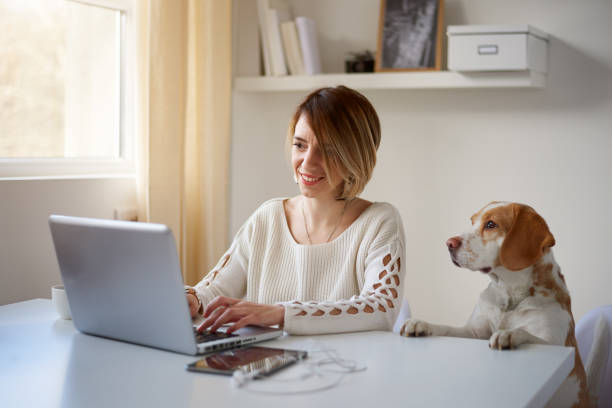 Woman using laptop her dog next to her picture id865660538?b=1&k=6&m=865660538&s=612x612&w=0&h=zywxvbe y r4b410x8byr28zwobgsk70allzyec3 sw=