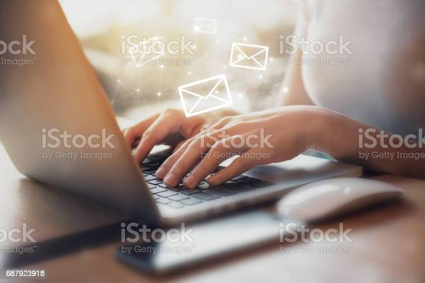 Woman using laptop with email icon picture id687923918?b=1&k=6&m=687923918&s=612x612&h=wv2uiutgqjageopewho1hik4keuzl4pzmbo un1q3ks=