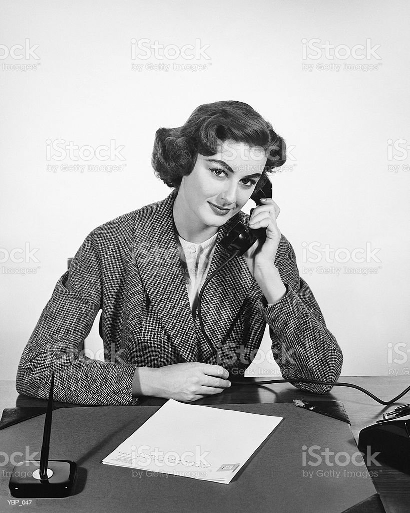 Woman using phone royalty-free stock photo