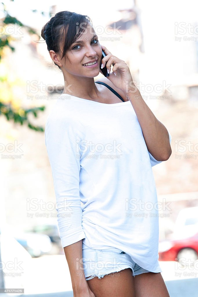 Woman Using Smart Phone royalty-free stock photo