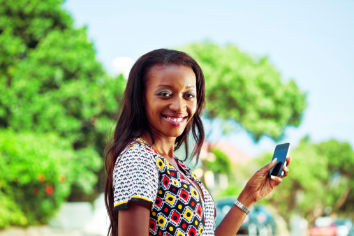 Woman Using Smartphone Stock Photo - Download Image Now