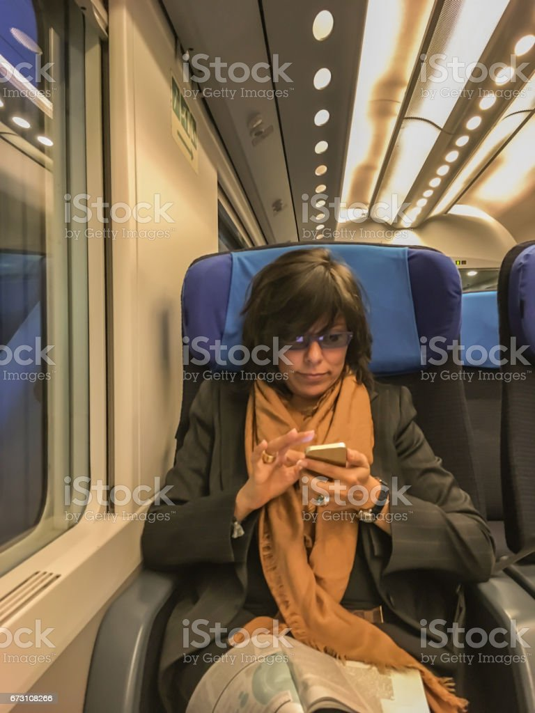 Woman using smartphone royalty-free stock photo