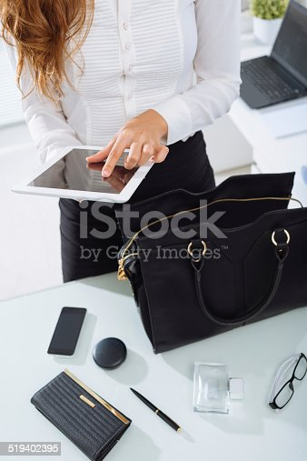istock Woman using tablet 519402395