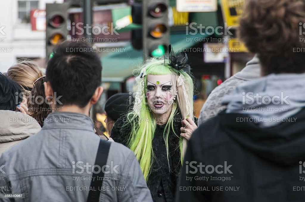 Woman vampire aspect stock photo