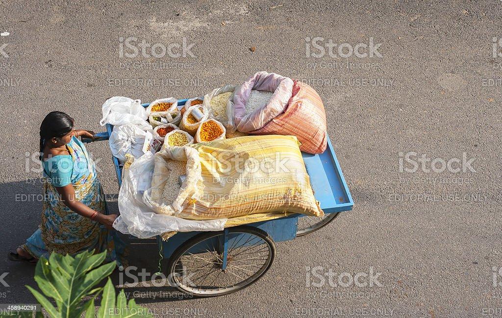 Woman vendor, India royalty-free stock photo
