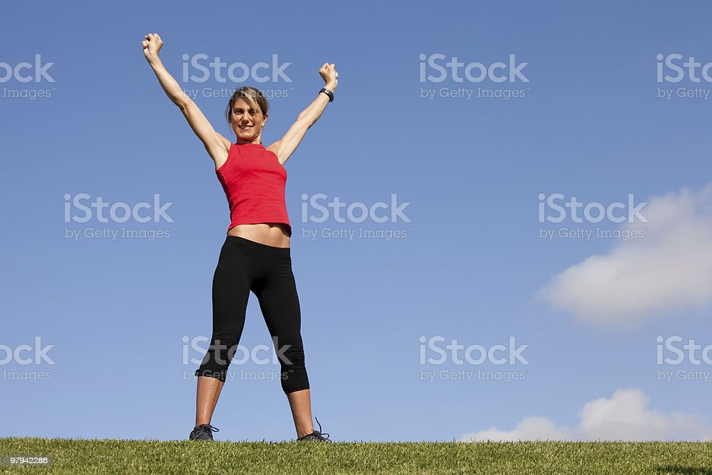 Woman victory royalty-free stock photo
