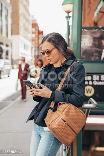 Woman visiting New York