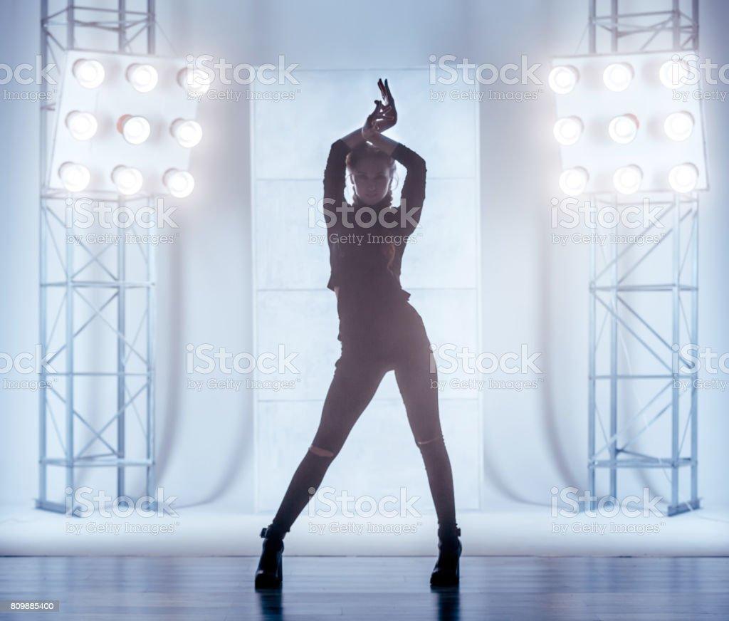 Woman Vogue Dancer stock photo