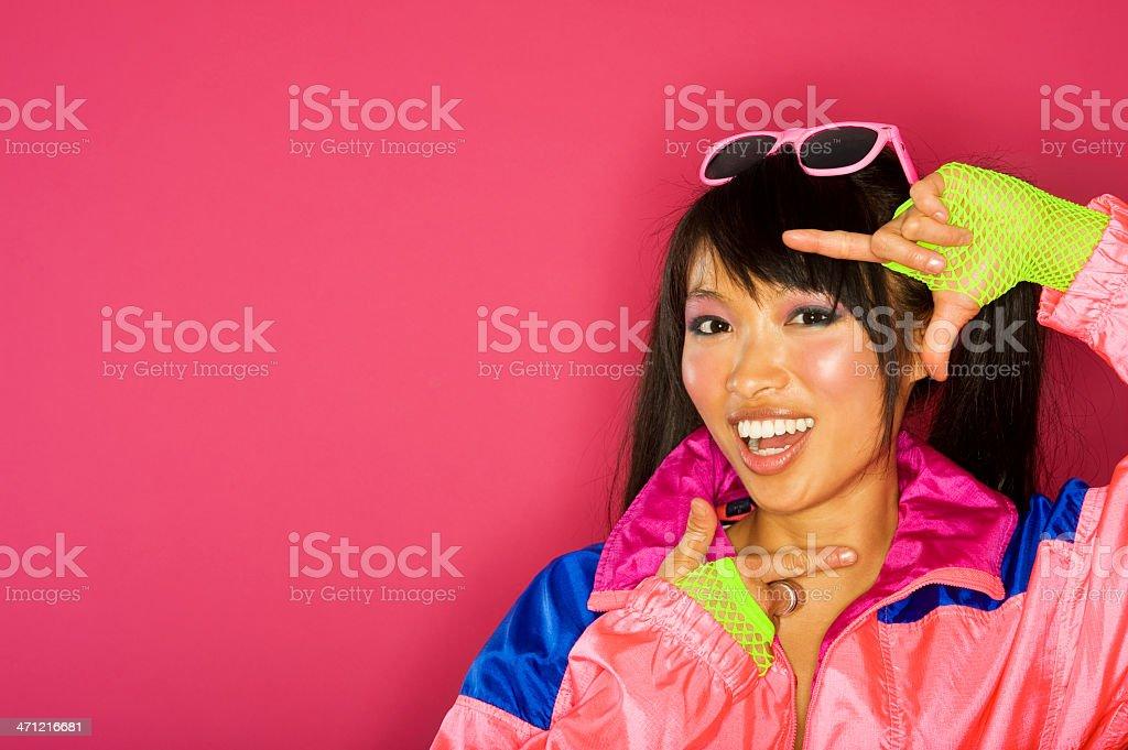 Woman Voguing stock photo