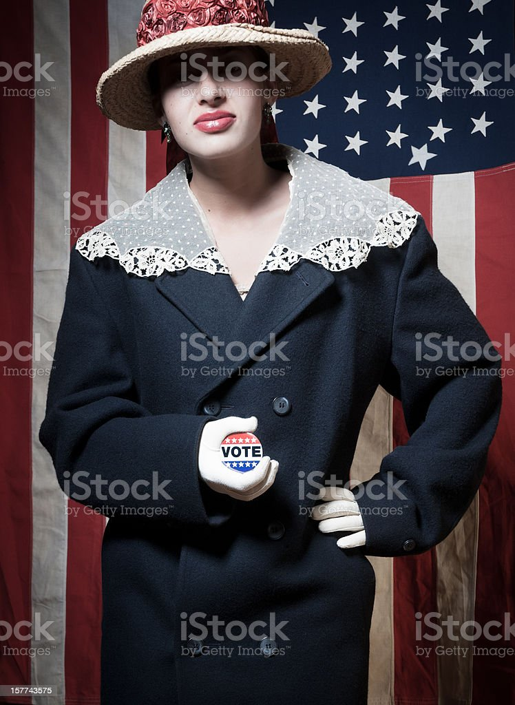 Woman Voter royalty-free stock photo