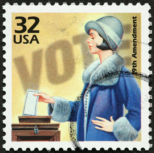 """woman voting """"19th amendment to the US Constitution, allowing women to vote."""" suffragist stock pictures, royalty-free photos & images"""