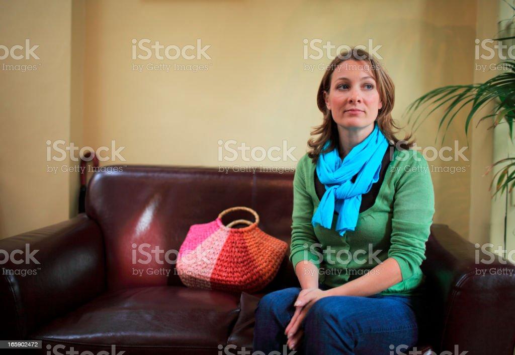 Woman waiting and hoping royalty-free stock photo