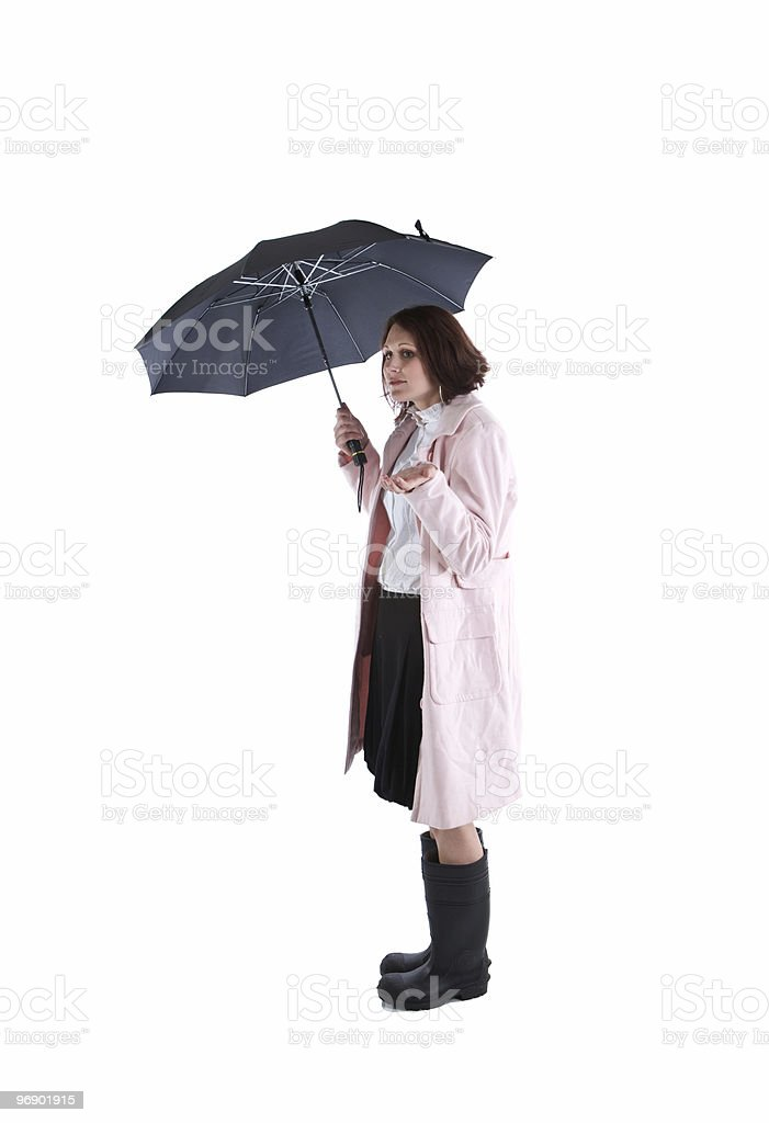 Woman Waiting for Rain royalty-free stock photo