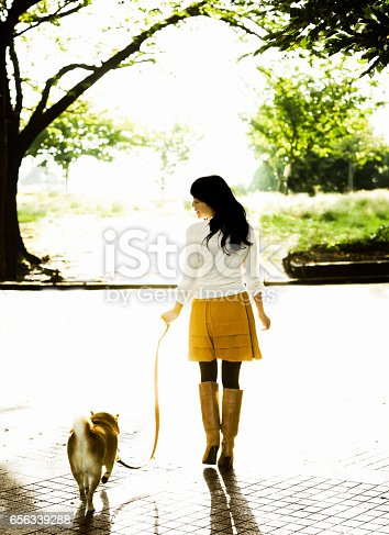 istock Woman Walking her Dog 656339288
