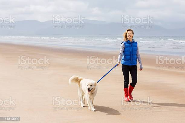 Woman walking on beach with her dog picture id171310920?b=1&k=6&m=171310920&s=612x612&h=kjvhktg174o34t4n0 dzcwcnhqi5bl2no9bies 7qkk=