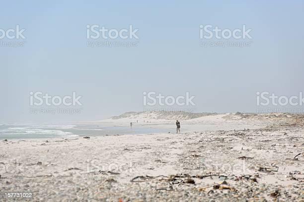 Woman Walking on Big Bay Beach Cape Town