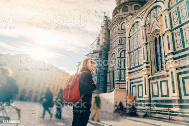 Woman walking on the streets of florence near the cattedrale di santa picture id878565906?b=1&k=6&m=878565906&s=612x612&h=cedcm4tu4zd0 romkwawimtn1qn37l u5iulg8nve0g=
