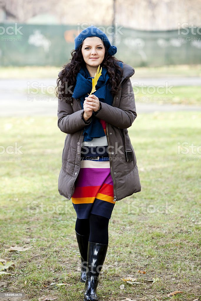 woman walking royalty-free stock photo
