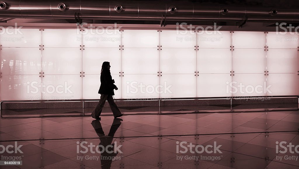woman walking royalty-free stock photo