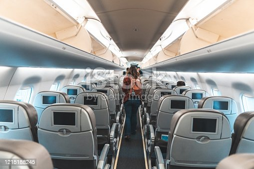 Walking, Air Vehicle, Airplane, Aisle, Journey