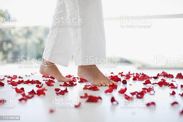 Woman walking through flower petals on floor picture id112156168?b=1&k=6&m=112156168&s=612x612&h=rff5peei3q lhfhyq1bqurx68ykoobusjjet3 6ze7y=