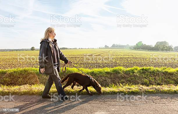 Woman walking with dog healthy lifestyle picture id187249296?b=1&k=6&m=187249296&s=612x612&h=x znzexqgmwp0jyru4isv5o7olz7lh seoenn2fkelq=