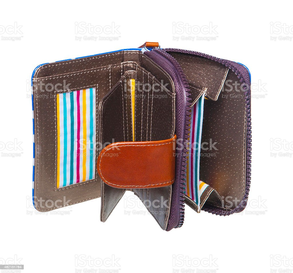 Woman wallet isolated on the white background stock photo