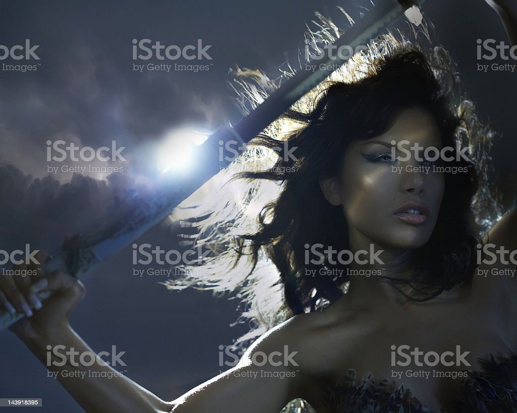 Woman Warrior royalty-free stock photo