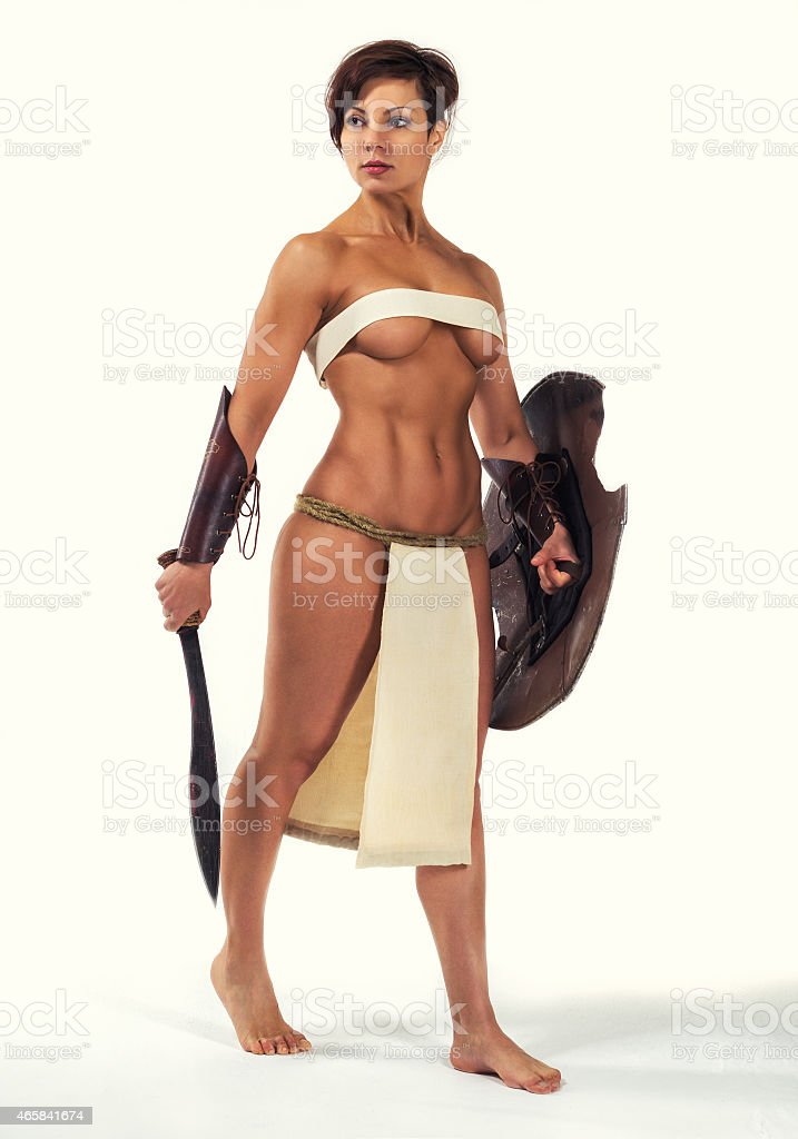 Woman warrior stock photo