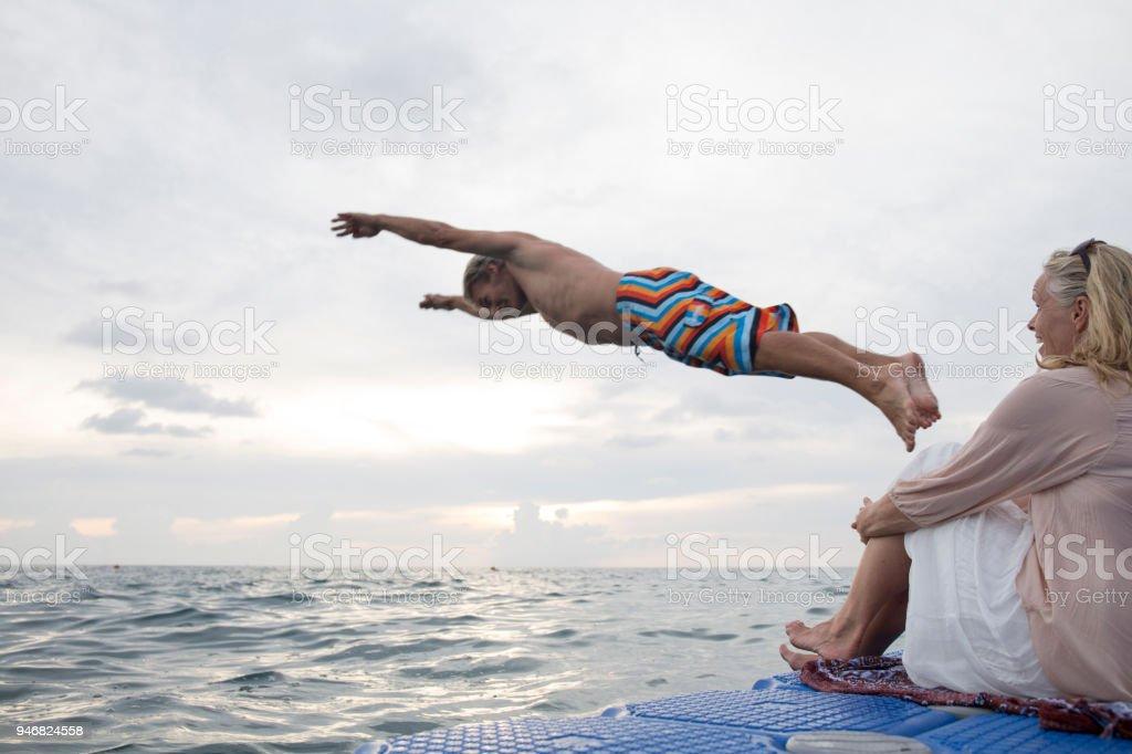 From floating raft, Phuket Island