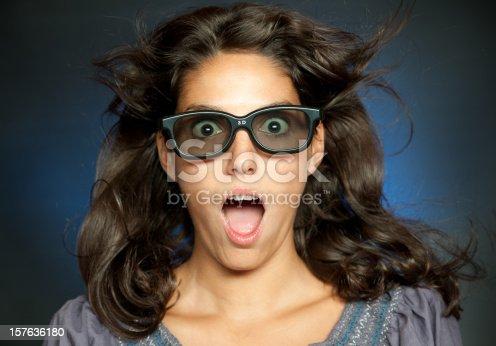 istock Woman watching 3-D Movies (XXXL) 157636180