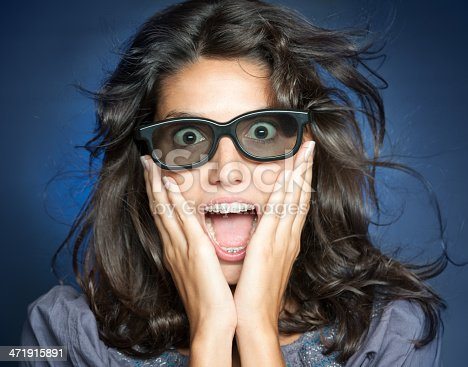 istock Woman watching 3-D Movies 471915891