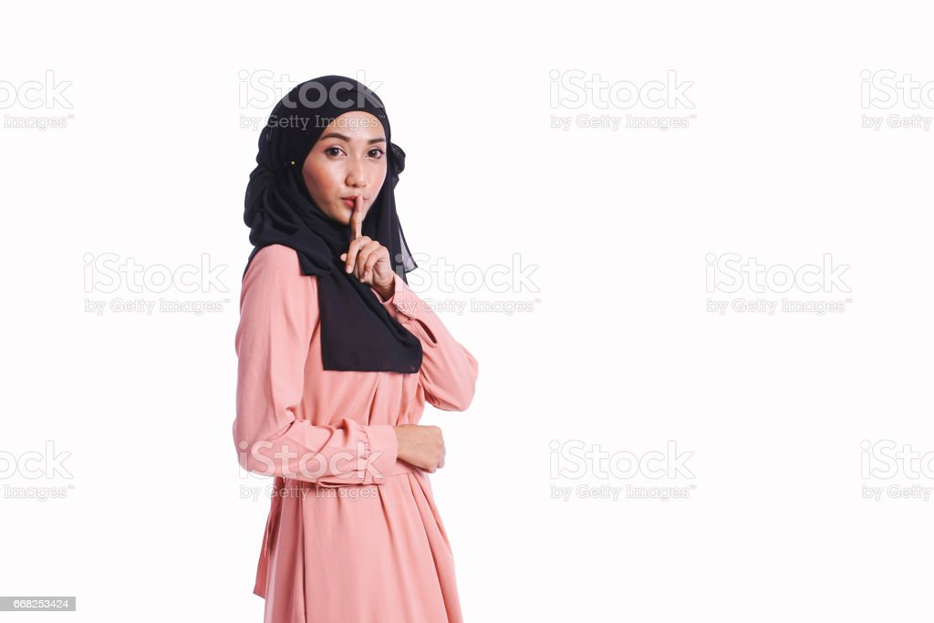Woman wear a beautiful dress show hand sign isolated on white background - beauty, model, studio and fashion concept foto stock royalty-free