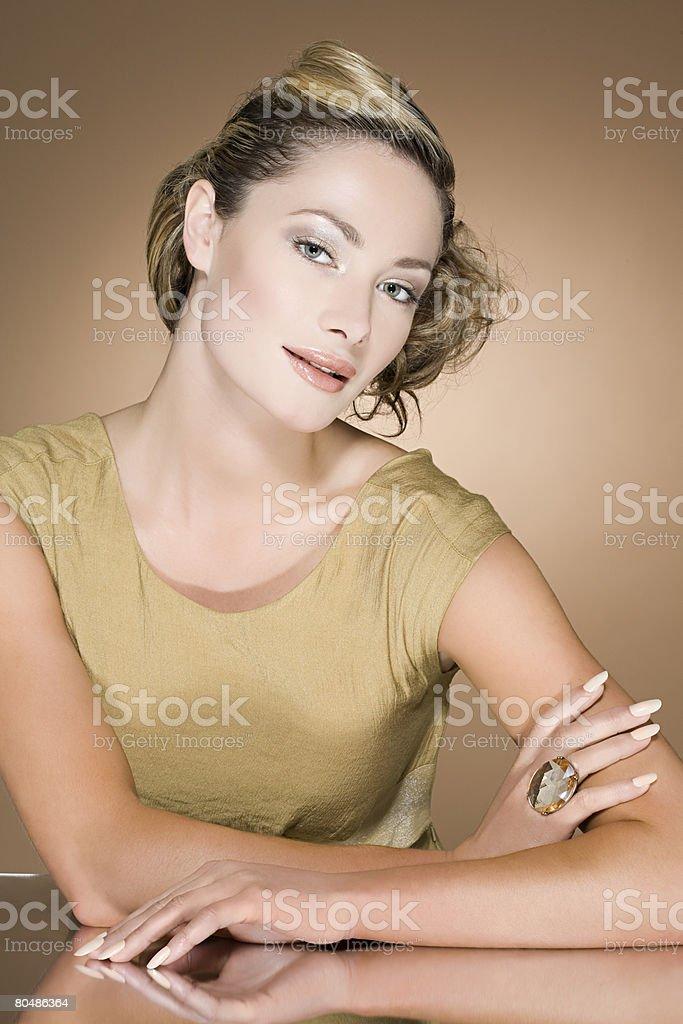 Woman wearing a ring 免版稅 stock photo