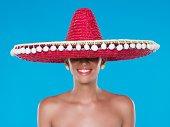Woman wearing a sombrero