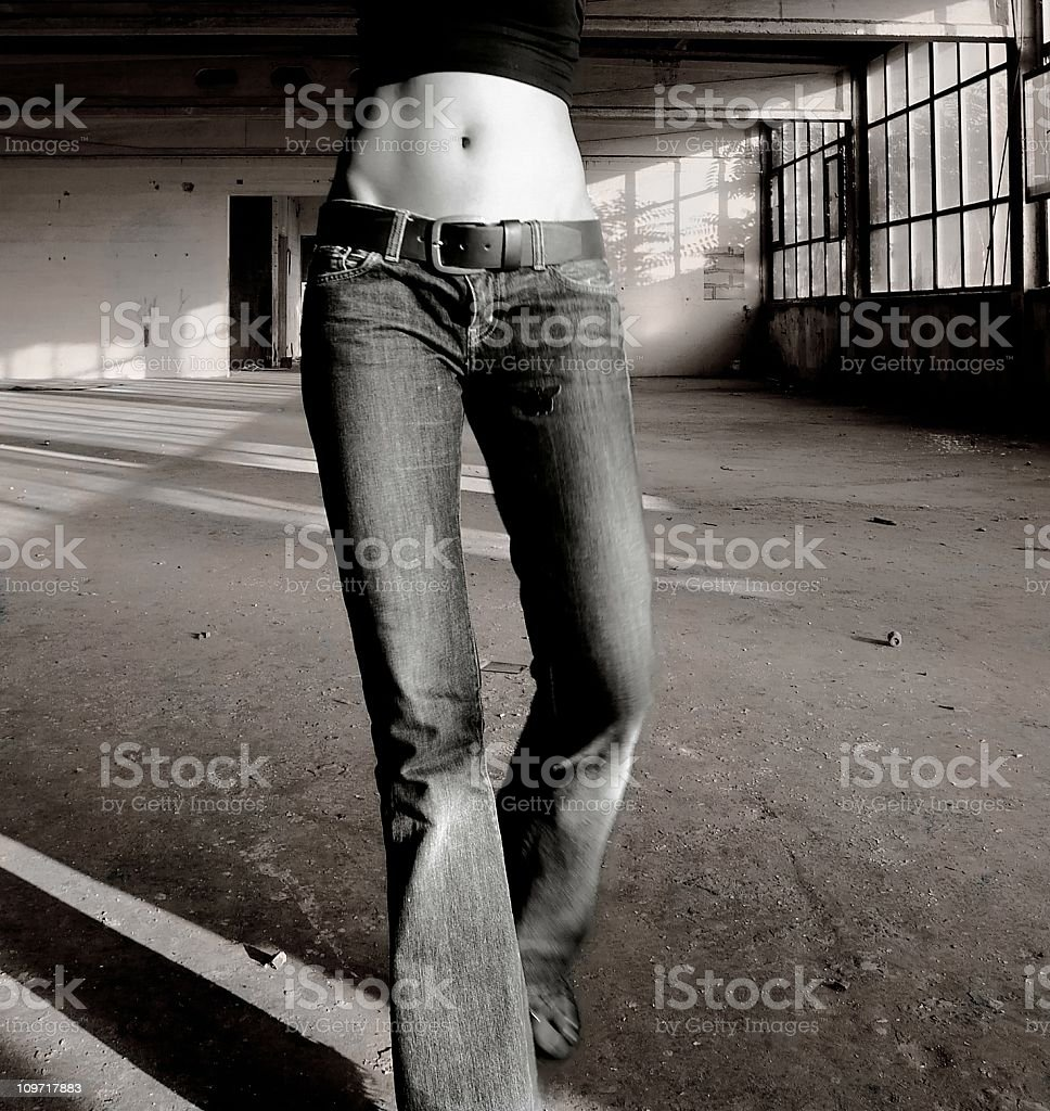 Woman Wearing Belly Shirt royalty-free stock photo
