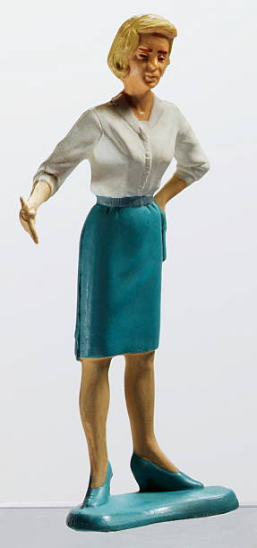 Woman Wearing Blue Skirt stock photo