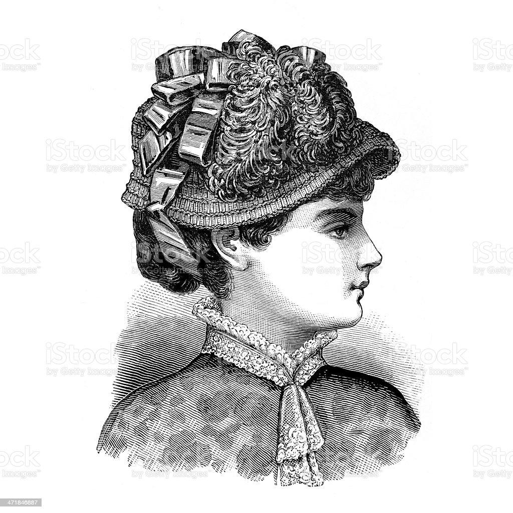 Woman wearing elegant hat royalty-free stock photo