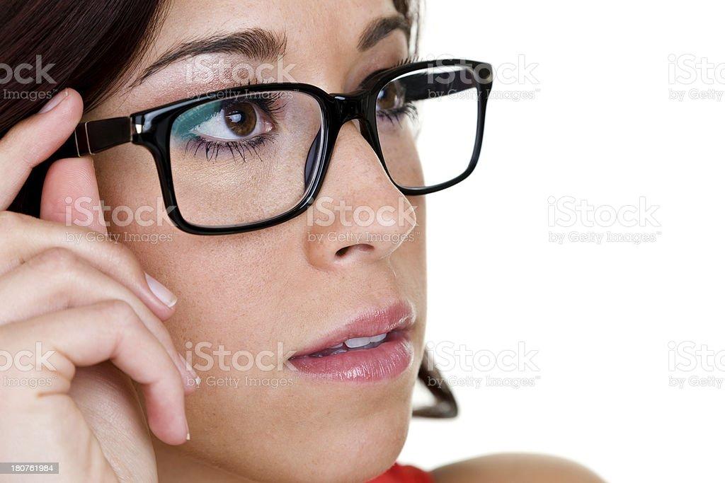 Woman wearing eye glasses royalty-free stock photo