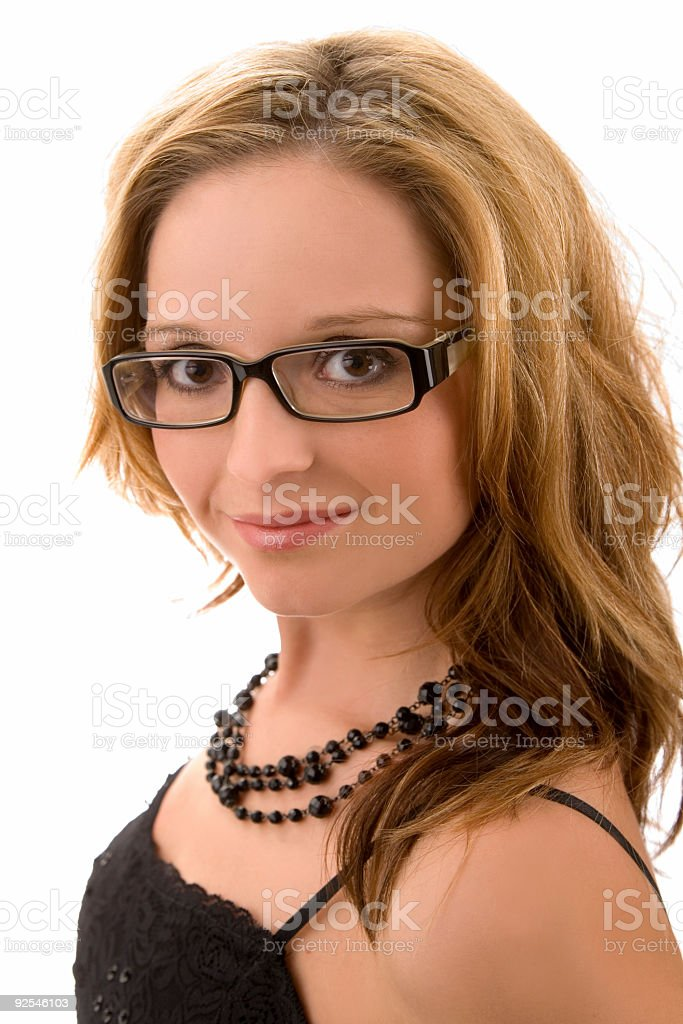 Woman / Wearing Glasses stock photo