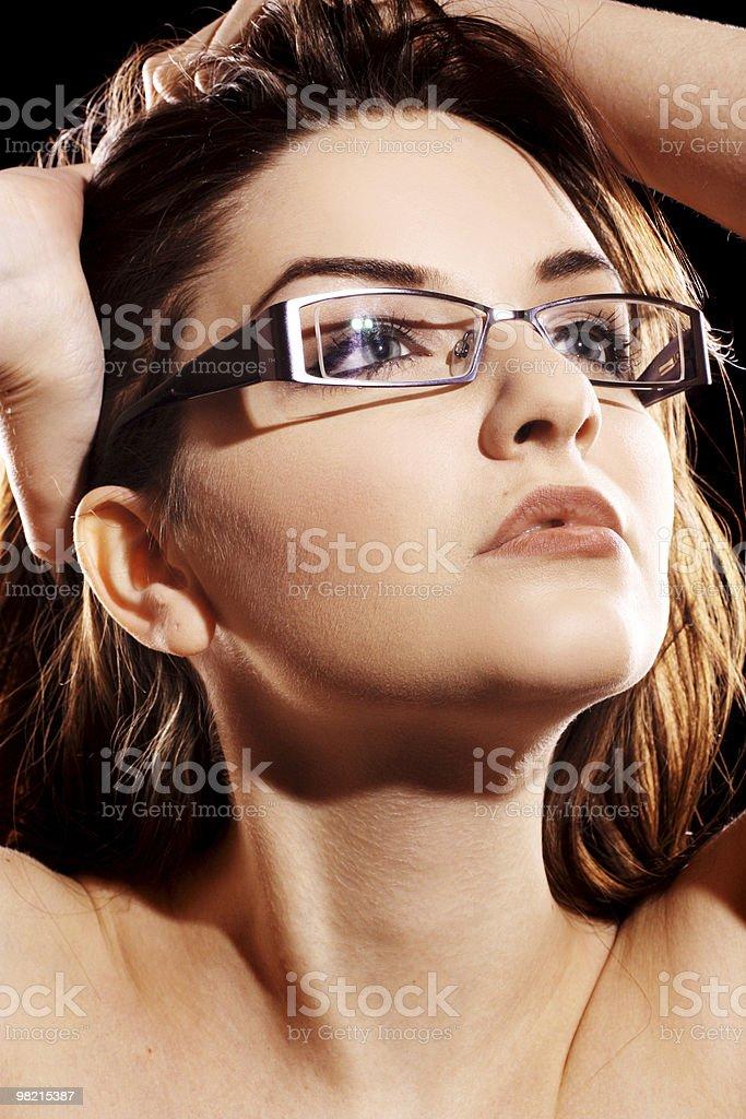Donna con gli occhiali foto stock royalty-free