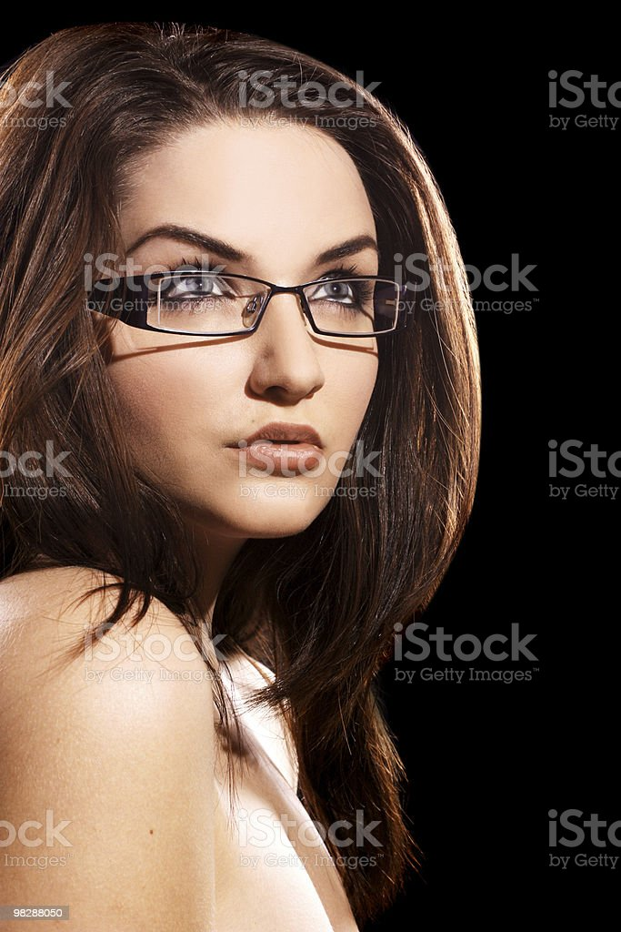 Woman wearing glasses royalty-free stock photo