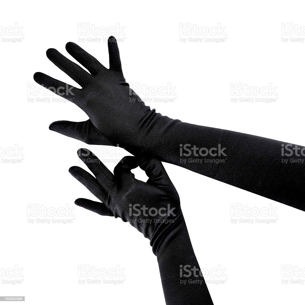 Woman wearing gloves stock photo