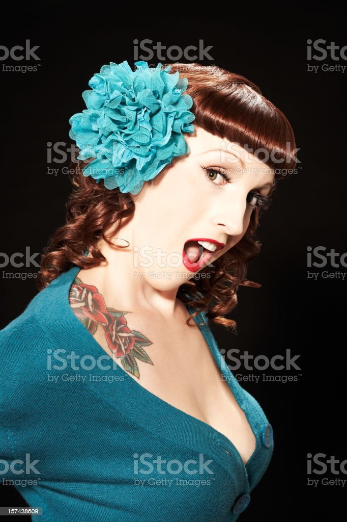 Woman Wearing Hair Ornament royalty-free stock photo
