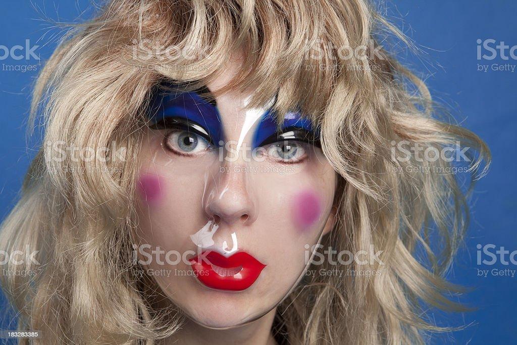 Woman Wearing Mask royalty-free stock photo