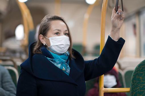 Woman wearing facial mask