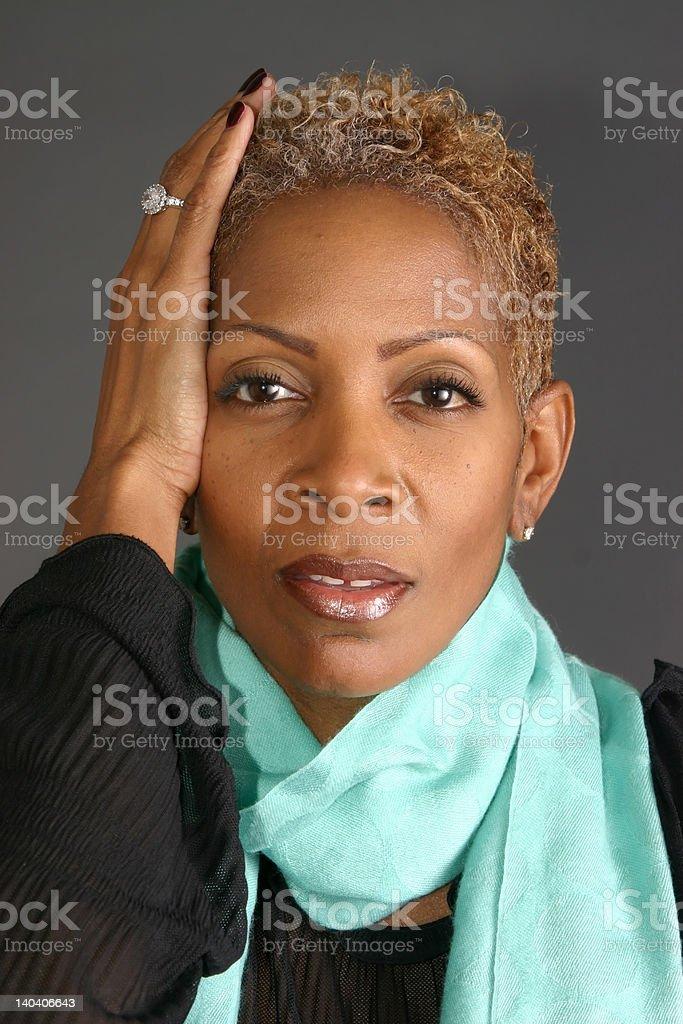 Woman Wearing Scarf royalty-free stock photo