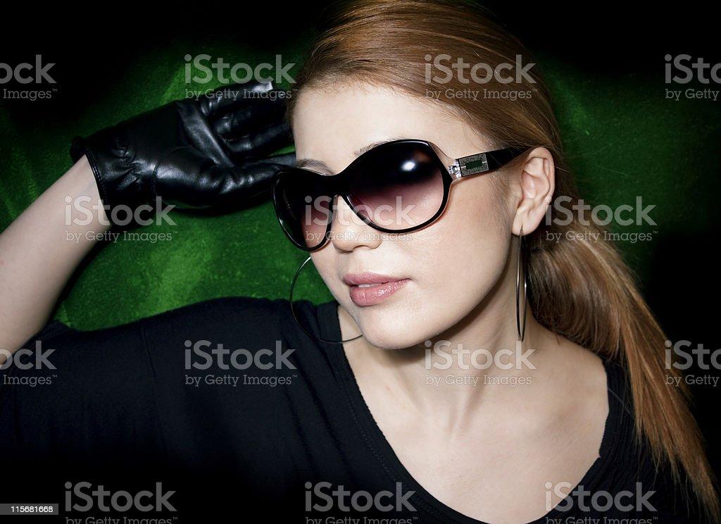 woman wearing sunglasses royalty-free stock photo