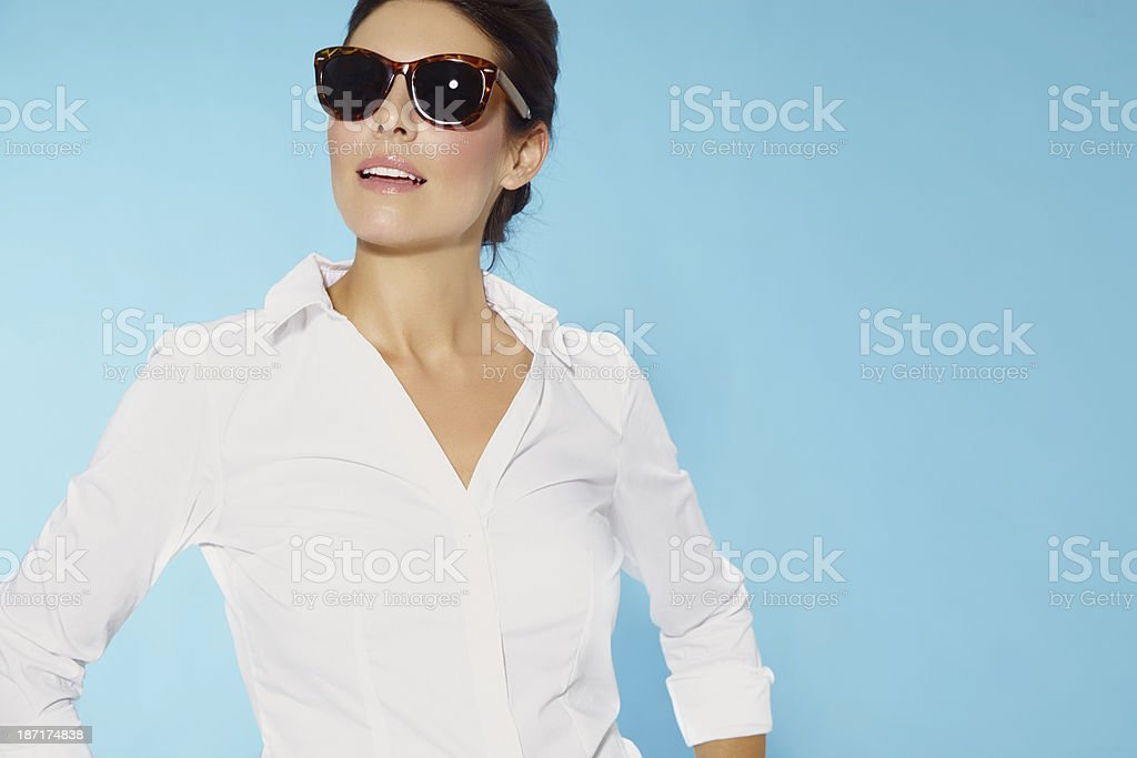 Woman Wearing Sunglasses stock photo