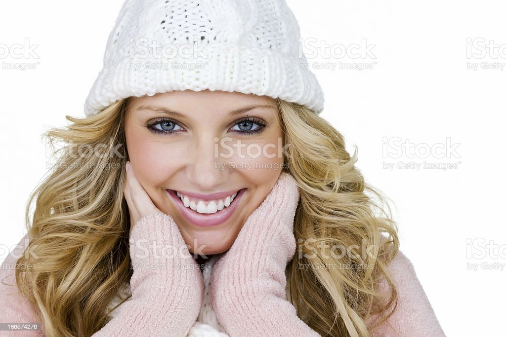 Woman wearing warm weather clothing royalty-free stock photo